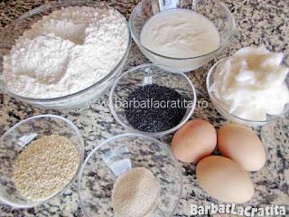 Saratele fragede cu untura mac susan Ingredientele pentru prepararea retetei