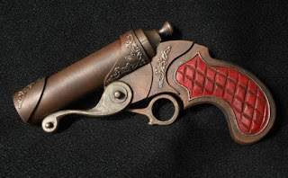 steampunk pistol large bore barrel