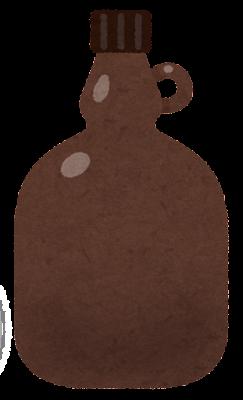 空の試薬瓶のイラスト3(茶色)