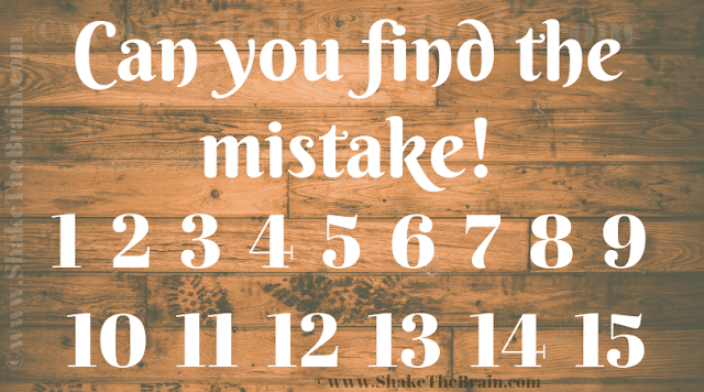 In this Picture Puzzle Brain Teaser, your challenge is to find the mistake in the given picture puzzle