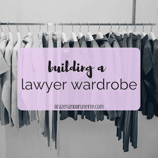 Lawyer and law school outfit ideas including skirt suits, pant suits, blouses, work heels, work flats, and work totes | brazenandbrunette.com