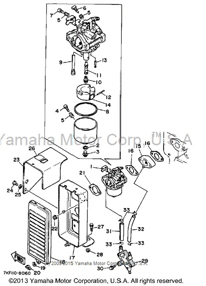 YamahaGenuineParts.com: YS828 Carburetor Assembly