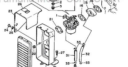 YamahaGenuineParts.com: YS828 Carburetor Assembly