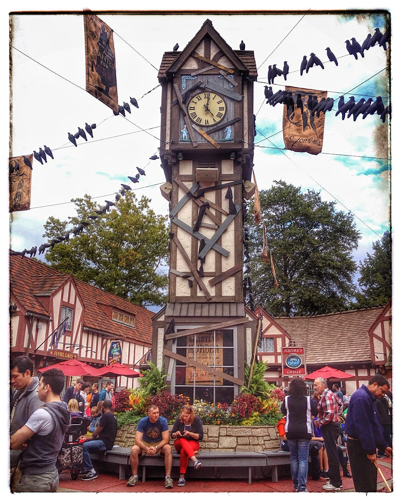 Big Ben at Busch Gardens, Williamsburg via foobella.blogspot.com