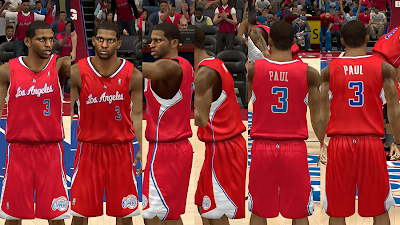 NBA 2K14 L.A. Clippers Jersey Mods