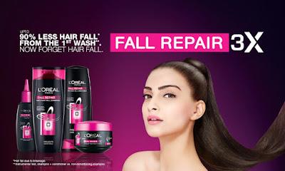 Atasi keguguran rambut dengan Loreal Paris Anti Hair Fall 3X
