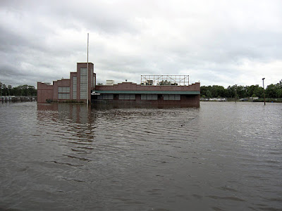 The Starland Ballroom in Sayreville, New Jersey after superstorm Sandy 2012