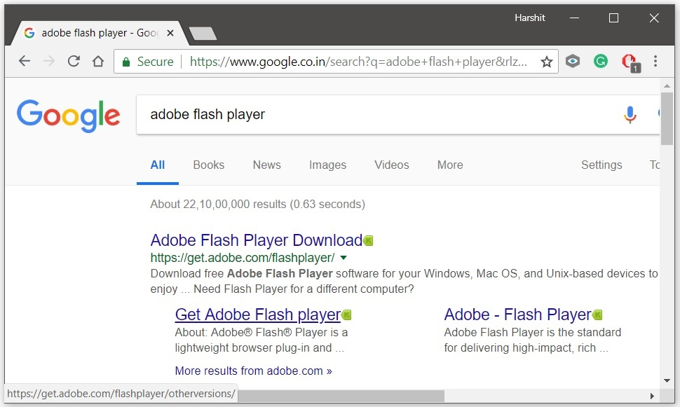 Reinstall Adobe Flash Player