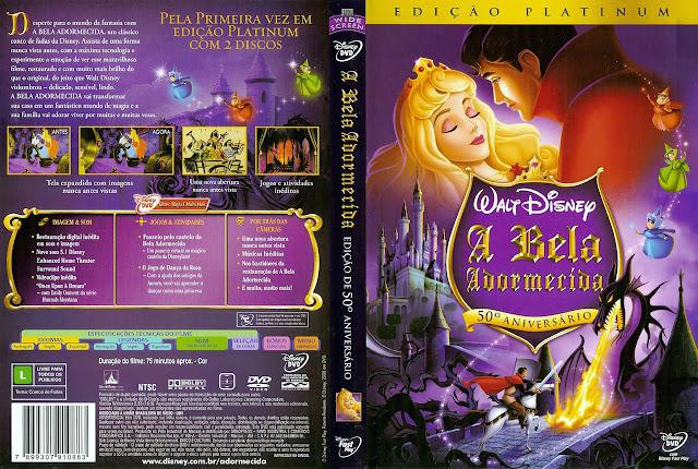 Capa DVD A Bela Adormecida (Edição Platinum)