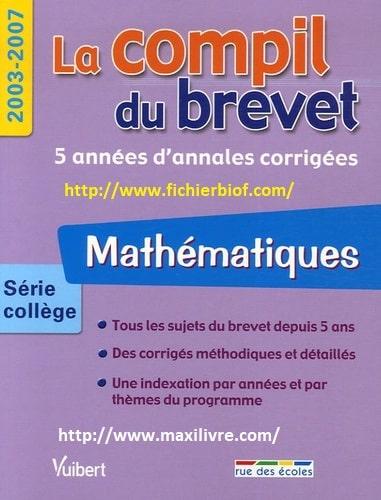 Mathématiques : série collège  2003-2007.