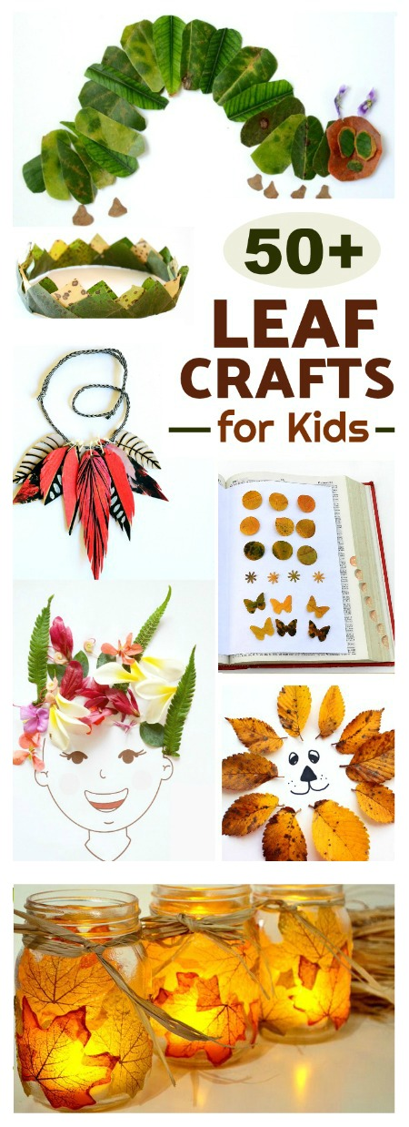 50 AMAZING LEAF CRAFTS FOR KIDS- tons of ideas I've never seen! Pinning for later! #fallleafcrafts #fallcrafts #thingstodowithleaves #fallcraftsforkidspreschool