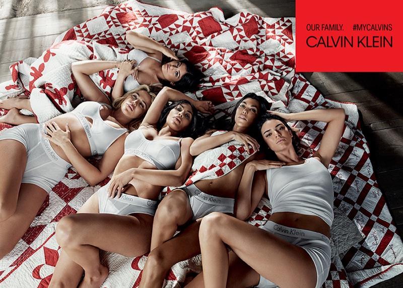 Kim Kardashian, Khloe Kardashian, Kourtney Kardashian, Kylie Jenner, Kendall Jenner for Calvin Klein #MyCalvins
