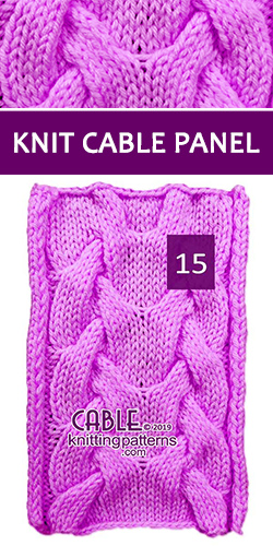 Knit Cable Panel Pattern 15, its FREE