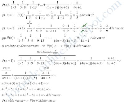 inductie matematica exercitii rezolvate