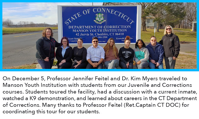 Students from juvenline and corrections courses visit Manson Youth Institution