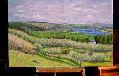 """""""La terrasse à Saint-Germain"""" copie d'un Sisley"""