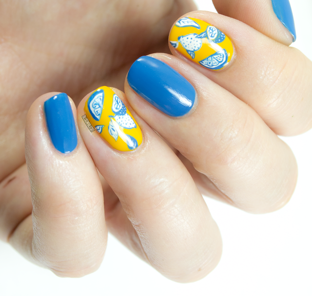 Lemon Saffron by Katy @ Nailed It www.blognailedit.co