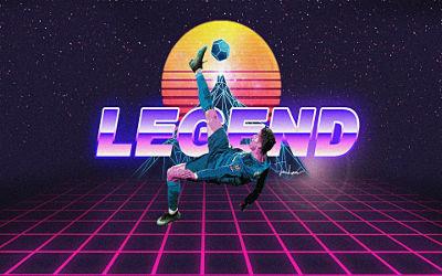 La Légende Cristiano Ronaldo Rétro - Fond d'écran en Full HD 1080p