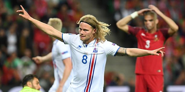 Portugal vs Islande 1-1 les buts Nani , Birkir Bjarnason