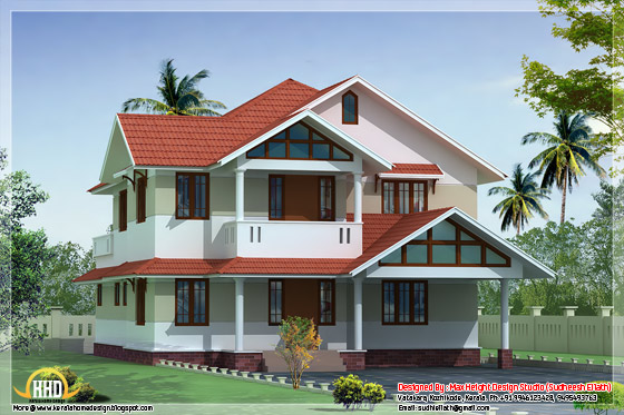 2300 square feet beautiful house elevation in 3D