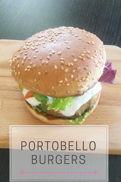 Burgers με Μανιτάρια Πορτομπέλο και Σως Αβοκάντο