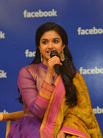 Keerthi Suresh at facebook hyd office-cover-photo