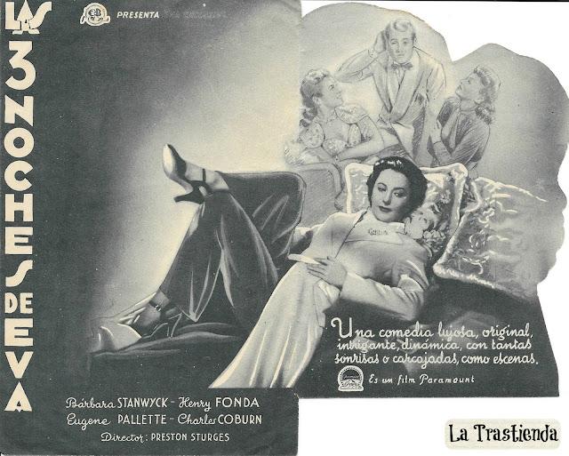 Programa de Cine - Las 3 Noches de Eva - Barbara Stanwyck - Henry Fonda