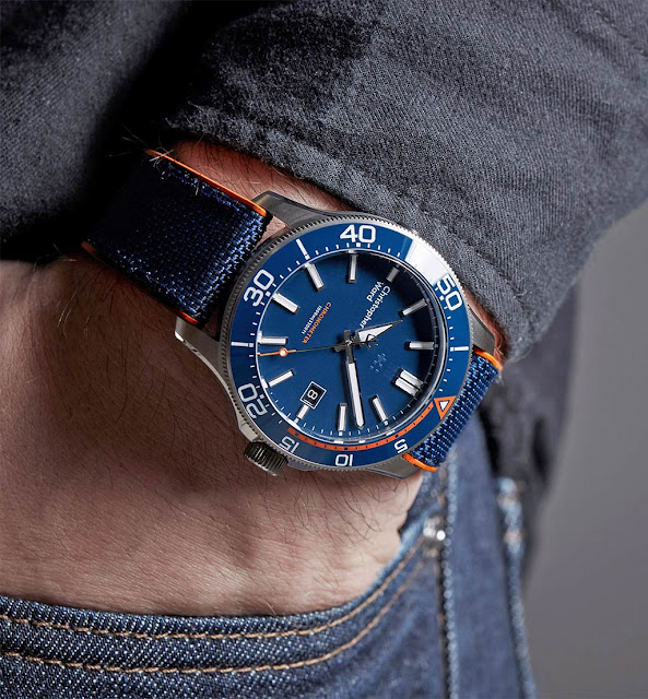 Wristshot of the Christopher Ward C60 Trident Elite 1000