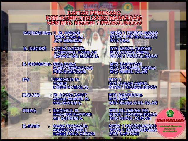 MTsN 1 Probolinggo Sabet Juara Umum Lomba KSM Tingkat KKM