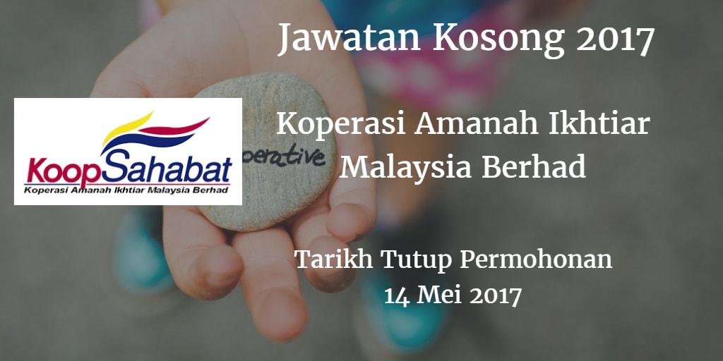 Jawatan Kosong Koperasi Amanah Ikhtiar Malaysia Berhad 14 Mei 2017