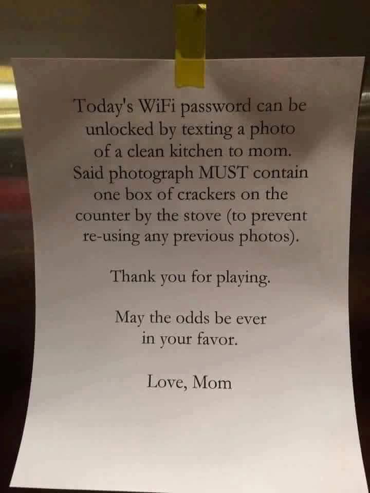 Lol. See how a smart mum makes her children do their chores