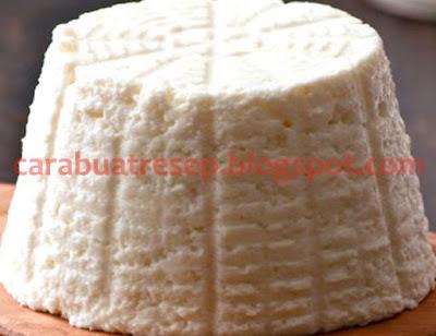 Foto Resep Membuat Keju Ricotta (whole milk) Buatan Sendiri Ala Rumahan (Homemade). Keju ricotta (ricotta cheese)