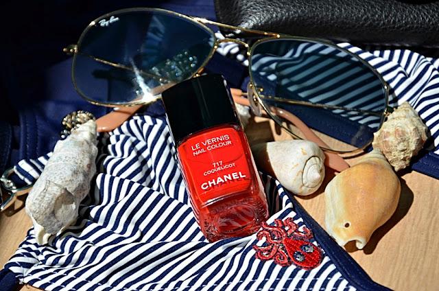 E_katerina: лак Chanel le vernis nail colors #717 Coquelicot (коллекция Chanel Mediterranee Collection Summer 2015)