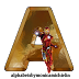 Abecedario con Iron Man. Iron Man Alphabet.