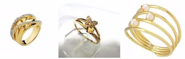 Comprar Anéis Folheados a Ouro e Prata