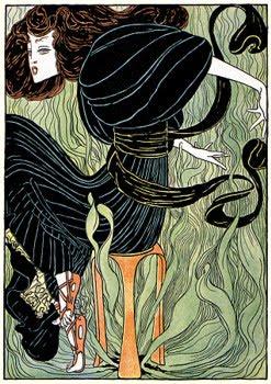 Vintage Venus: Child of Nature - Wild Art Nouveau Beauty