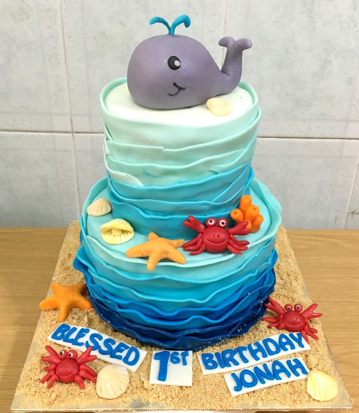 Admirable Ocean Theme Whale Cake Sherbakes Funny Birthday Cards Online Hendilapandamsfinfo