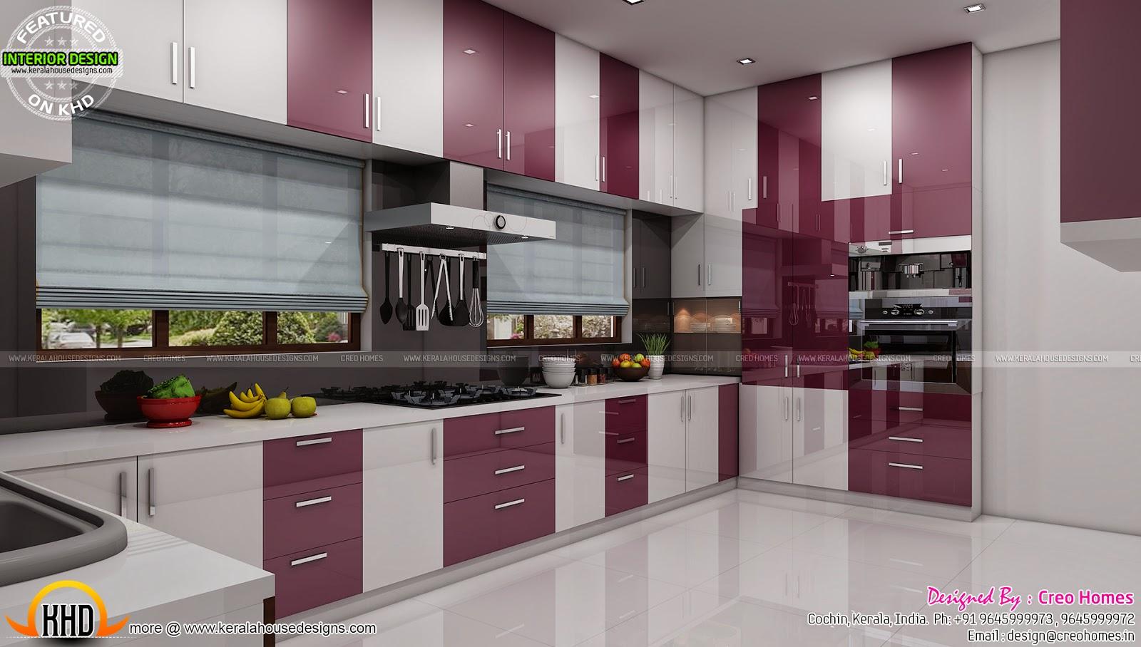 Living Prayer Kitchen Interiors Kerala Home Design And Floor Plans