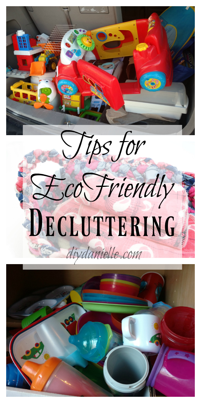 Don't send it to the landfill! Tips for green decluttering.