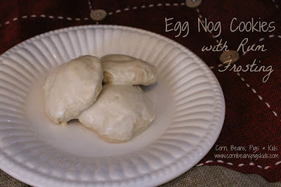 Get festive with these easy and pillowy soft Egg Nog Cookies with Rum Frosting #AEdairy #sponsored