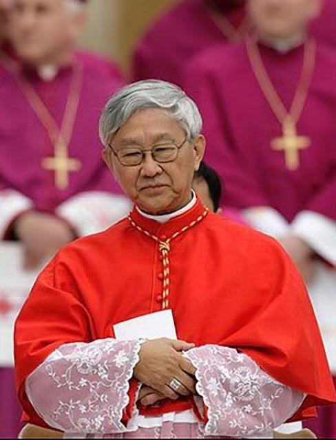 O cardeal Joseph Zen Ze-kiun, bispo emérito de Hong-Kong