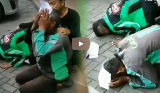 [Video] Dapat Umrah Gratis, Dua Driver Grab Ini Menangis Dan Sujud Syukur | JabarPost Media