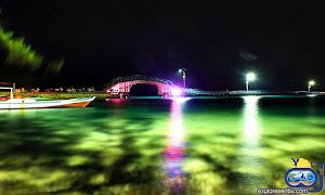 suasana malam di wisata pulau tidung