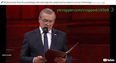 To hańba, że Gliński i Kaczyński mówią o rozsławianiu Polski na świecie, kiedy świat widzi na ekranie ludzi na sali koncertowej machających czym tylko się da, żeby nie dać udusić się z powodu braku nawiewu świeżego powietrza, nie zapewnionego przez organizatorów   I Międzynarodowego Konkursu Chopinowskiego na instrumentach dawnych .    Wybuczenie listu Kaczyńskiego odczytanego dla zwiększenia zaduchu przez Glińskiego       http://sowamagazyn.blogspot.com/2018/09/zagalopowa-sie-mat-morawiecki.html