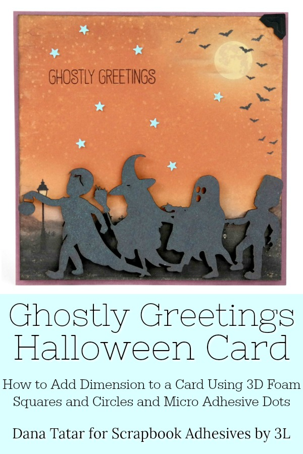 Ghostly Greetings Trick-or-Treat Halloween Card with 3D Foam