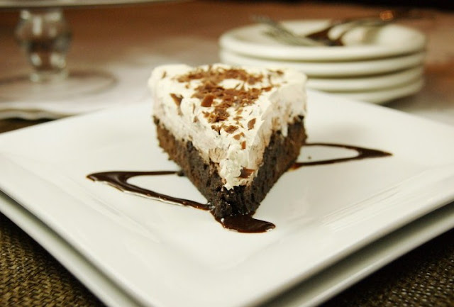 Layered Mocha Fudge Pie