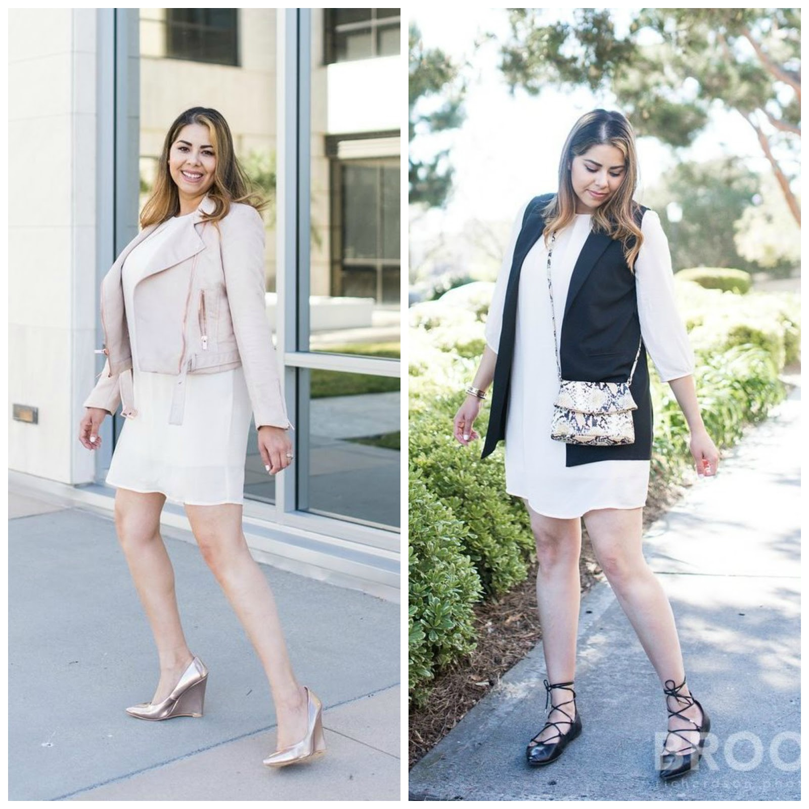 one beige dress two ways, monochromatic outfit ideas, affordable fashion, affordable outfit ideas, mexican fashion blogger