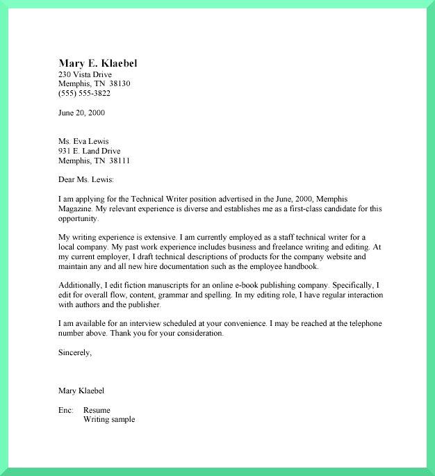 cv closing statement