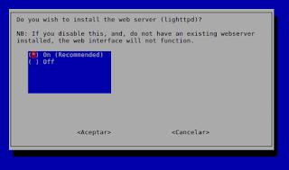 ¿Instalar lighttpd necesario para el interface web?