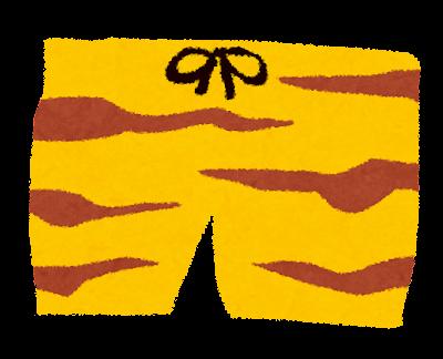 節分のイラスト「トラ柄パンツ」